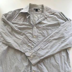 Banana Republic Shirts - Blue and White Striped Long Sleeve Shirt